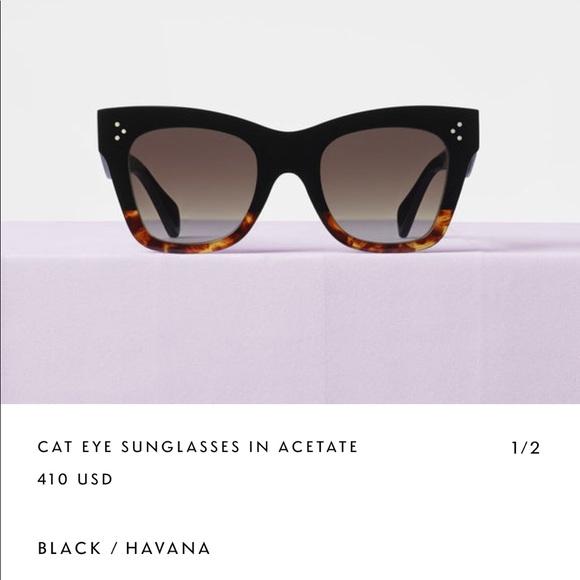 2d5d31e7588 Céline black Havana Catherine cat eye Sunglasses